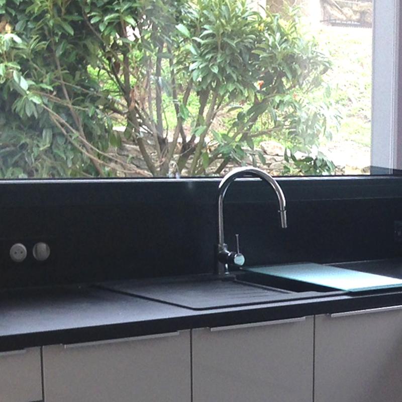 Cuisine Moderne Loft : gris soie noir modèle coloris gris soie brillant coloris joues gris