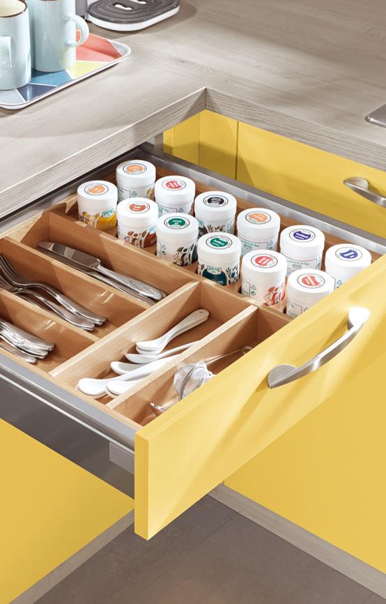 Aménagement cuisine – tiroir